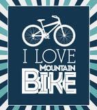 Bike design. Over blue stripes background, vector illustration Royalty Free Stock Photos