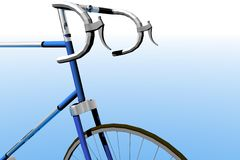 Bike detail. 3d render illustration of racing bike detail Stock Images