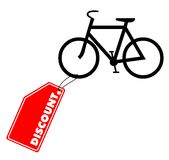 Bike discount. Vector illustration - Bicycle with discount label Stock Photo