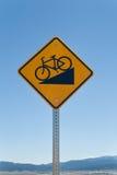 Bike Downhill Sign Royalty Free Stock Photos