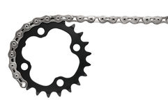 Bike drivetrain with chain Royalty Free Stock Photo