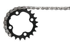 Bike drivetrain with chain Royalty Free Stock Photo