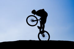 The bike extreme trick Stock Photos
