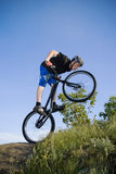 The bike extreme trick Stock Photography