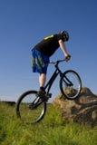 The bike extreme trick Royalty Free Stock Photos