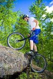 The bike extreme trick Royalty Free Stock Image