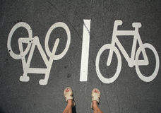 Bike feet Royalty Free Stock Photography