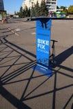 Bike fix station. KHARKIV, UKRAINE - OCTOBER 2, 2016: New bike fix station in Kharkiv near 23 Avgusta subway station Royalty Free Stock Photo