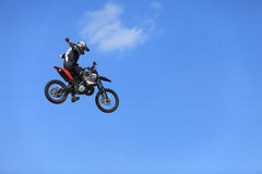 Bike flight Royalty Free Stock Images