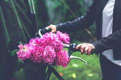 Bike with flower basket Stock Image
