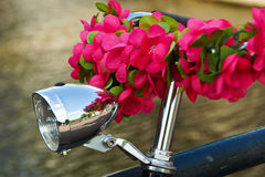 Bike with flowers Stock Photography
