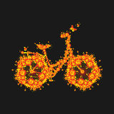 Bike with flowers, design element for wedding invitations, Floral Fauna, Mother`s day, Valentine`s,t shirt design and many more. V Stock Photo