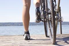 Bike footbridge Stock Photo