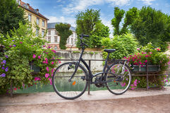 Bike in France Comar Royalty Free Stock Photo