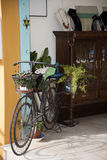 Bike in Frigiliana an old Moorish village above Nerja on the Costa del Sol in Southern Spain Royalty Free Stock Photos