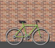 Bike in front of brick wall Stock Photos
