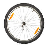 Bike front wheel. Against white background royalty free stock photography