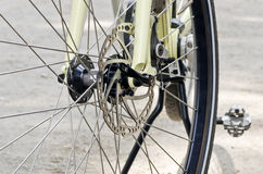 Bike front wheel Royalty Free Stock Photo