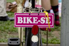 A bike full of details stock photography