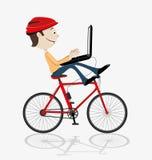 The bike of the future. Stock Photos