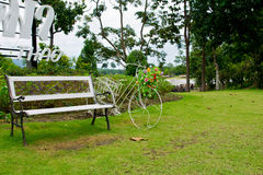 Bike Garden Decor Royalty Free Stock Image