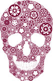 Bike gear skull Stock Images