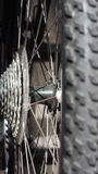 Bike gear. Bike gear and bike tires Stock Photos