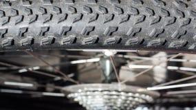 Bike gear. Bike gear and bike tires Royalty Free Stock Photos