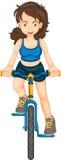 Bike girl Royalty Free Stock Photo