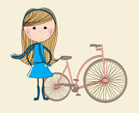 Bike girl design Royalty Free Stock Photos