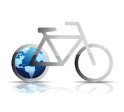 Bike and globe wheel illustration design Royalty Free Stock Photography