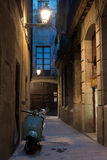 Bike in the Gothic Quarter (Barri Gotic), Barcelona Royalty Free Stock Photo