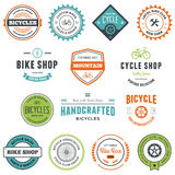 Bike graphics. Set of bicycle graphics and design emblems Royalty Free Stock Image