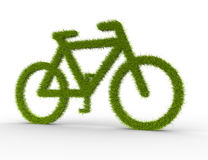 Bike of grass Royalty Free Stock Images