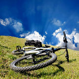 Bike on grass Stock Photo