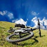 Bike on grass Stock Photo