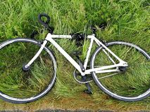 bike on the grass Royalty Free Stock Photography