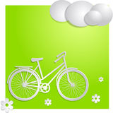 Bike with green background Royalty Free Stock Photos