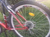 Bike on green space Royalty Free Stock Photography