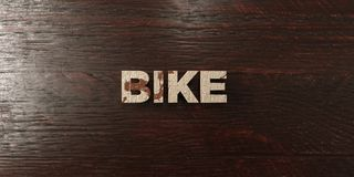 Bike - grungy wooden headline on Maple  - 3D rendered royalty free stock image Stock Photos