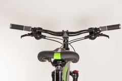 Bike handlebars, close up view, studio photo.  Stock Images