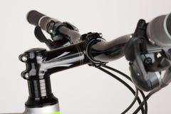 Bike handlebars, close up view, studio photo.  Royalty Free Stock Image