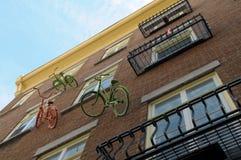 Bike hang on a wall Stock Photography