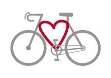 Bike heart vector Stock Photos