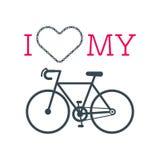 Bike heart vector Royalty Free Stock Photo