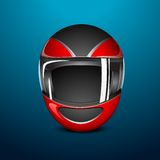Bike Helmet. Illustration of bike helmet on abstract background Royalty Free Stock Photo