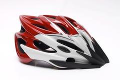 Bike helmet. Red bike helmet in white Stock Images