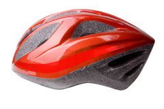 Bike Helmet on White Stock Photo