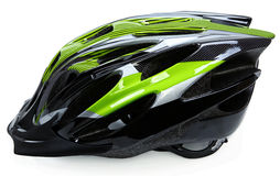Bicycle Helmet  On White Stock Photo