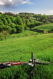 Bike with hills landscape Stock Image